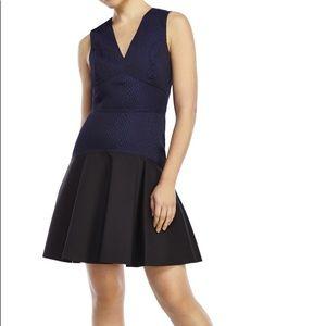 Rebecca Taylor Stretch Snake Jacquard Dress